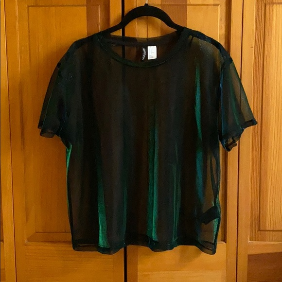 Divided Tops - Holographic T-shirt